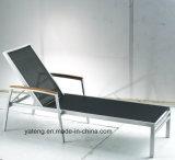 Salotto poco costoso di alluminio del Chaise del lato esterno accatastabile del raggruppamento del bracciolo del teck impostato con le imbracature per Seat&Back (YT321)