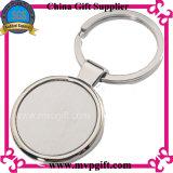 Porte-clés blanc en métal avec le logo changeable
