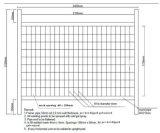 clôture provisoire galvanisée par pipe de 32mm OD