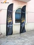Aluminio exposición al aire libre personalizadas banderas de plumas de banners Muestra