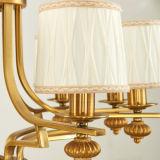 ホームまたはレストランD-6117/5のための新しいデザインファブリック正方形の形の金のシャンデリアの吊り下げ式の照明