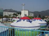 Aluminunmおよびタケフレームのモンゴル人のテント