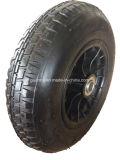 Roda de borracha pneumática do ar da borda plástica pesada da capacidade 4pr
