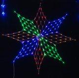 Éclairage LED blanc de lumière de réseau de décoration de vacances de maille du réseau DEL de couleur de DEL extérieur