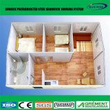Chambre vivante de conteneur de mémoire personnalisée par 20FT/isolation à la maison préfabriquée de toilette