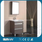 Vanité debout de salle de bains de mélamine d'étage avec le Module de miroir