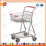 Металлический супермаркет бакалеи компактного магазина регулируя вагонетку магазинной тележкаи (Zht210)