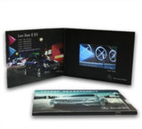 Folheto de vídeo de tela LCD personalizado
