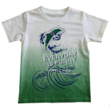 プリントSqt-602が付いている子供の衣服の100%年の綿の男の子のTシャツ