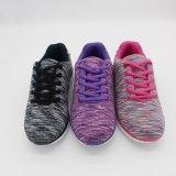 ラインストーンが付いているエヴァOutsoleの虹の綿織物の軽量の女性のセメントの靴