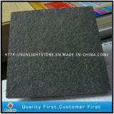El descuento flameó el granito negro de Mogonlian que pavimentaba los azulejos para el suelo cuadrado