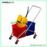 Deux couleurs différentes godet Mop essoreuse chariot pour le nettoyage