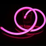 분홍색 색깔에 있는 유연한 LED 네온 밧줄 빛