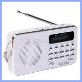 Beweglicher Hifilautsprecher-Digital-Multimedia-Lautsprecher der Karten-T-205, der im Freien Radiolautsprecher des Sport-FM wandernd kampiert
