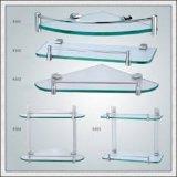 8m m claros/colorearon/estante de cristal de cristal endurecido helado del estante de la esquina