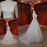 Luva longa que perla o vestido de casamento nupcial de cristal Z11149 de Ballgown