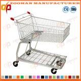Carro de aço do trole da compra do supermercado nas rodas tradicionais (Zht153)