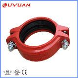 Accoppiamento rigido Grooved del ferro duttile con il colore rosso Ral3000
