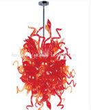 Красный стеклянных люстра лампа для украшения