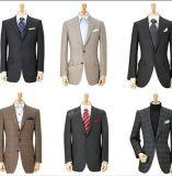 イタリア人100%のウールのスーツのハンドメイドの人の濃紺のスーツのMtmの習慣のスーツ