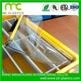 Borrar/PVC transparente flexible/Película/hoja utilizados para la ventana