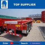 Titaan de Assen van 40 voet 2 of Vrachtwagen van de Aanhangwagen van de Container van de Aanhangwagen van 3 As Flatbed Semi