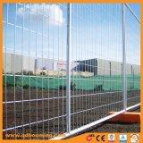 Rete fissa provvisoria galvanizzata saldata della rete metallica con i piedi arancioni