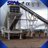 Máquina móvil de la trituradora de la pista, trituradora del móvil de la alta capacidad