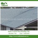Telhado revestido de pedra Tille (telha de madeira)
