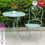 Retro gótico Metal Dobrável mesa e cadeira Bistro Definido