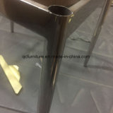 黒いPUの簡単な食事の椅子