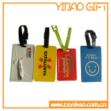 Цветастая мягкая бирка багажа PVC с логосом таможни печатание