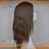 Natürliche Farben-Menschenhaar-Haut-Oberseite-Frauen-Perücke (PPG-l-0973)
