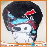 Связанные шлемы Beanie акрилового жаккарда милые