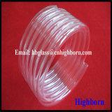 Tubería transparente de pulido del vidrio de cuarzo de la bobina