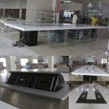 상한 인공적인 석영 돌 백색 사각 디자인 현대 사무실 회의 회의장