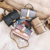 Новейшие Sequin цепь Messenger сумки через плечо PU женщин дамской сумочке
