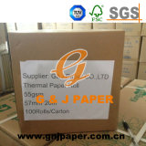 Papel termal blanco de la buena calidad con imagen modificada para requisitos particulares