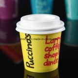 Tazas de café de papel de un sólo recinto de Whoesale 4oz Kraft para la bebida