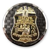 Billig gestaltete Strudel-Rand herausgeschnittene Militär-Herausforderungs-Münze