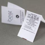 Etiquetas impressas costume do cetim do baixo preço em Guangzhou