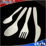 Cuchillería a base de almidón del maíz plástico abonable disponible de los platos y cubiertos