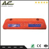 Guter Verkaufs-Gummirad-Stopper mit hohen Reflektoren