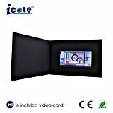 제품 광고하거나 축제 인사말 선물 또는 권유를 위한 6 인치 영상 브로셔