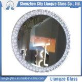 Personalizar 5mm Smart espejo del baño de cristal de hoja plana