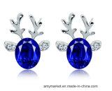 Oorring van de Manier van de Diamant van het Kristal van de Luxe van de Oorringen van het Rendier van Chritmas 3D