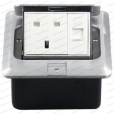 Britse Vloer/de Gemalen Multifunctionele Vloer van de Dekking van het Messing van de Contactdoos Pop omhoog Elektro - opgezette Contactdozen