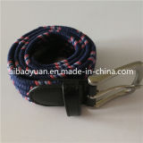 Customize Purple Polyester Braided Ribbon Belt with Pine Buckle