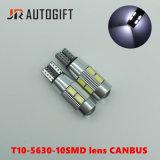 T10 5630 10SMD Canbus 자동 램프 렌즈 차 LED 빛