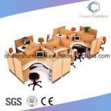 Het moderne Werkstation van Bureau 8 Seaters met Mobiel Kabinet